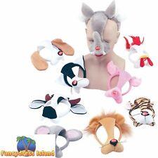 PIG FARM ANIMAL MASK HEADBAND SOUND - kids childs fancy dress accessory