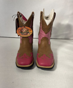 ARIAT 17154 SHOW BABY SQUARE TOE WING TIP PINK WOMENS Size 6B