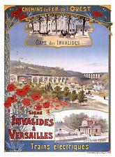 Affiche chemin de fer Ouest - Invalides Versailles