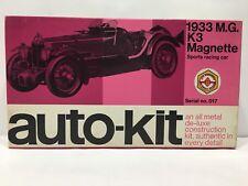 AUTO-KIT 1933 M.G. K3 MAGNETTE SPORT RACING CAR 1/24 SCALE SERIAL NO. 017 RARE.