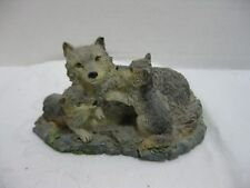 Russ The North American Wildlife Collection Gray Wolf  Mother and Pups Figurine