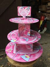 Princesse en CARTON Cupcake Stand 3-Tier Round Tower-Children 's Birthday