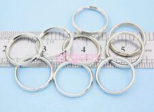 10PCS 25mm Steel Key Rings  Split Rings Platinum Color