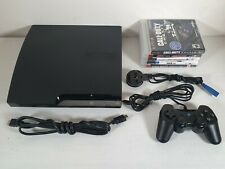 Sony Playstation 3 PS3 Slim 120GB Console -- Full Setup + Games -- Tested UK --
