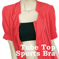 Sexy Black Bandeau Top Sports Bra Tube Underwear