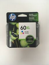 NEW Genuine HP 60XL Color Ink Cartridge (CC644WN), High Yield OEM Exp. 2017-2018
