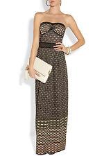 NEW M MISSONI Metallic Textured Knit Maxi DRESS SIZE US 4  IT 40 $1195 LATEST!!