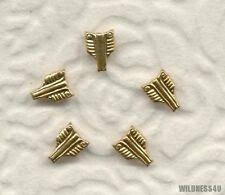 Vintage Military Brass Stampings Nailheads Studs 8mm Doll size Embellishment Lot