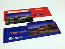 2001 Hummer Humvee H1 Rod Hall Chad Hall Information Sheet Brochure