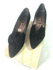 Peter Fox shoes 7.5B black Suede With Bow