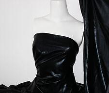 Black 4 way stretch metallic foil spandex