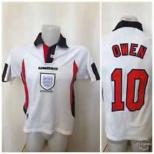 England national team #10 Owen 1997/1998/1999 home Boys Y football shirt jersey