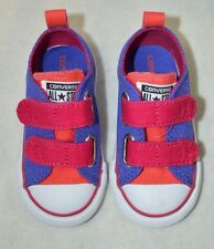 Converse Toddler Girl's CT 2V OX Periwinkle / Berry Sneakers - Size 5 NWB