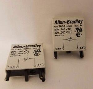 Lot De 2 Allen Bradley 700-HSV2 Séries A Surge Suppresseur 220-240VAC 220-300VDC