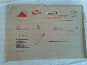 Ganzsache Briefumschlag Einschreiben Nachnahme Berlin 8 A4 DDR 1965