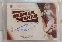 CeeDee Lamb 2020 Immaculate Collegiate Team Slogan BOOMER SOONER Auto RC 2/10