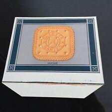 Etiquette LU Ancien Habillage Boîte Lefèvre Utile Galette Bleu Gris 1908