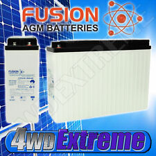 SLIM FRONT TERMINAL 100AH AGM DEEP CYCLE BATTERY SOLAR CARAVAN 4WD CBF12V100H
