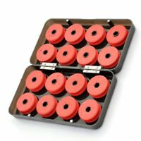 16pcs Foam Winding Board Fishing Line Shaft Bobbin Spools Tackle Box Red Utility