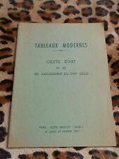 Catalogue Drouot, Me Lemée - Objets d'art et de bel ameublement - 27/02/1961