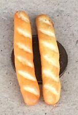 1:12 scale small crusty slices of bread split tin dolls house tumdee