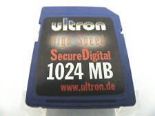1GB Secure Digital Card HIGH SPEED ( 1 GB SD Karte ) ULTRON Neu