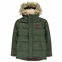 Franklin and Marshall Padded Parka Jacket Youngster Boys Coat Top Full Length