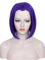 Short Purple Raven Wig Halloween Costume Cosplay Wig For Women
