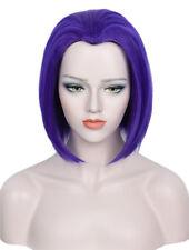 Raven Wig Teen Titans Go Short Halloween Coatume Cosplay Wig Purple Blue