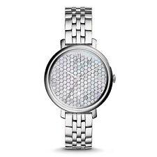 FOSSIL Uhr ES3803 JACQUELINE Damen Edelstahl Silber Armbanduhr Analog Quarz NEU