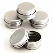 10 x 5ml Empty Cosmetic Pots Lip Balm candle Screw lid Jar Aluminium Tins jda10