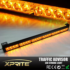 "27"" 24 LED Emergency Warning Light Bar Traffic Hazard Strobe - Amber Yellow"