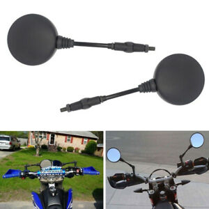 2PCS Foldable Rear Mirror Fit For Dirt Bikes ATV TTR250 XR250 DR650 KLR650 CB400