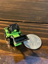 Micro Machines Construction Front Loader Green W/Black 1987 Galoob, Good Cond