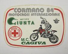 VECCHIO ADESIVO MOTO / Old Sticker MOTOCROSS CORMANO 1984 CAGIVA (cm 11 x 7)