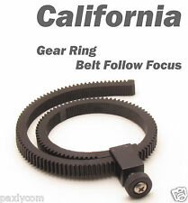 Adjustable Gear Ring Belt for DSLR Follow Focus FF Canon EOS 550D Nikon D90 Sony