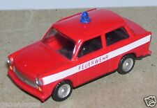MICRO SES HO 1/87 TRABANT P 601 S FEUERWEHR POMPIERS FIRE bande blanche