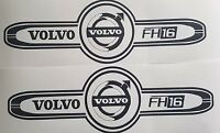 VOLVO FH16 LOGO DECAL X2 FH12 FH16 FM  GLOBETROTTER HAULAGE STICKER TRUCK DRIVER
