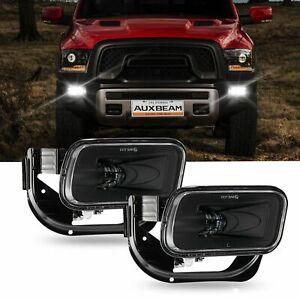 LED Fog Lights Dodge Ram 1500 2009-2012, Ram 2500/3500 2010-2018 Auxbeam (Black)