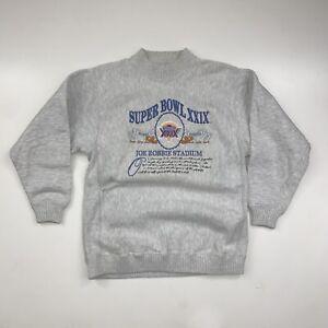 Vintage 90s Super Bowl 29 Sweatshirt Size Large 49ers Vs Chargers Nutmeg Mills