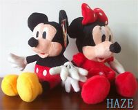 Set of 2 Mickey Mouse Minnie Mouse Disney Plush Stuffed Kid Toy Doll