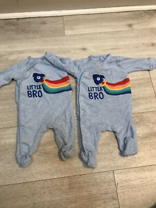 Next Newborn Little Brother Twin Outfit