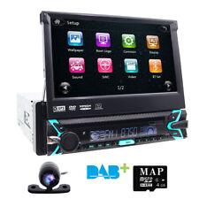 Soni CD Lens GPS+Cam-Single 1 Din In Dash Car Stereo DVD Player Radio BT GPS Nav