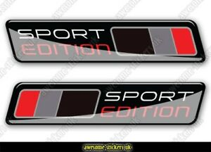 2 x AUDI flag stickers 002 decals vinyl A1 A3 A4 S1 S3 S4 sport edition