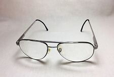 Looking Glass Vintage Eyeglasses FRAMES 8002 Aviators Gunmetal 56[]18 145 Korea