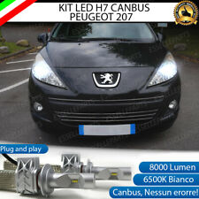 KIT FULL LED PEUGEOT 207 LED H7 6500K BIANCO 8000 LUMEN CANBUS NO ERROR