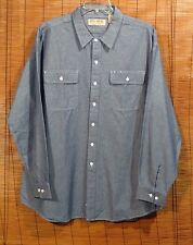New!   Big Mac Chambray Shirt Long Sleeve Blue 2XL Tall * * * * Nice!