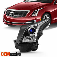For 2013-2018 Cadillac ATS Sedan Halogen Projector Chrome Headlight Driver Left