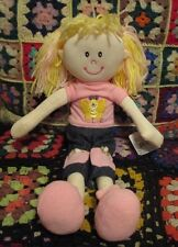 """** """"SARAH""""  42cm RAG DOLL in Pink clothes **"""