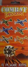 Combat Mission 3D Flying Plane Kit (6 Planes) Easy to Assemble with No Cutting